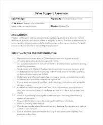 Retail Associate Job Description Interesting Inside Sales Responsibilities Simple Resume Format
