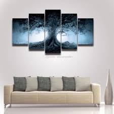 2018 5 panel canvas wall art dark tree scenery painting hd prints modular picture poster for home decor living room decorate bedroom from anhonestseller  on 5 piece canvas wall art trees with 2018 5 panel canvas wall art dark tree scenery painting hd prints