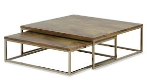 maurizio 2pc nesting table set in rosegold
