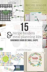 Recipe Binder Templates 15 Fantastic Recipe Binder Templates And Menu Planning Kits