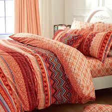 chevron queen bedding set rust orange copper brown and c chevron stripe print vintage bohemian style