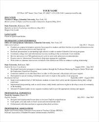 Education On Resume Examples Mesmerizing Higher Education Resumes Free Resume Templates 48