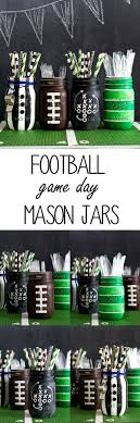 Super Bowl Party Decorating Ideas Football Party Mason Jars Mason Jar Crafts Love 68