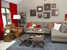 Gray And Red Living Room Ideas Rooms With Gray Walls