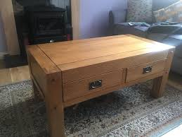 solid wood coffee table for