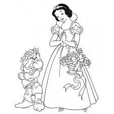 Disegno Di Biancaneve Da Colorare Per Bambini