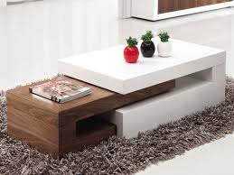 white and walnut coffee table modern coffee table