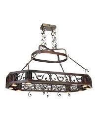 chandeliers pot rack chandelier oaks nth degree home with downlights pot rack chandelier