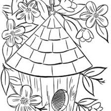 Small Picture Birdhouse Coloring Page AZ Coloring Pages Coloring Pages Bird