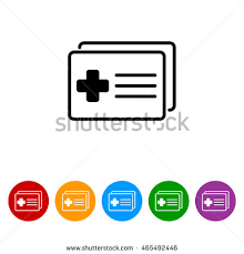 Web Icon Medical Forms Medical Certificate Stock Photo (Photo ...