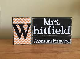 Personalized Assistant Principal Gift Wood Principal Name