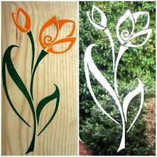 coloured flower stickers decal