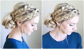 Pretty Girls Hairstyle mixed braid bun cute girls hairstyles youtube 5744 by stevesalt.us