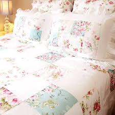 chic bedding rose fl patchwork shabby chic duvet cover