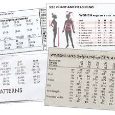 Simplicity Pattern Size Chart Choose The Correct Pattern Size Threads