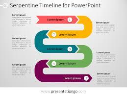 Timeline Ppt Slide Powerpoint Serpentine Timeline Presentationgo Com