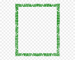 Green Borders Border Line Design Green Free Transparent Png