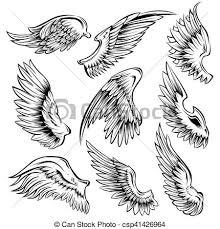 白 セット 黒い鳥 翼