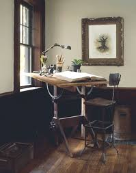loving the old drawing board table and the idea of just needing this small area