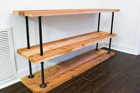 great diy pipe and wood shelves diy black pipe coffee bar station live simply