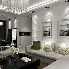 Home Design  White Brick Wall Interior Bath Remodelers Furniture White Brick Wall Living Room