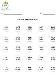 Math Worksheets Decimals 4th Grade | Homeshealth.info