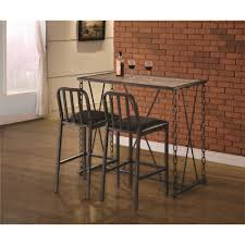Industrial Pub Table Sets Rustic Industrial Chain Link Bar Table By Coaster Wolf And