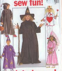 Costume Sewing Patterns Simple Adult And Children Size Sewing Patterns For Witch And Wizards Costumes