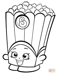 Coloring Pages Poppy Corn Shopkin Coloring Page Free Printable