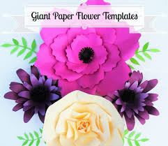 Giant Paper Flower Svg Giant Flower Templates Giant Paper Flower Wall Svg Flower Cutting