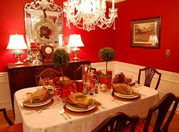 ... Awesome Centerpieces Design : Awesome Christmas Dining Table Decoration  With Rectangular Table Using White Table Sheet ...