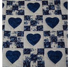 Best 25+ Patchwork quilts for sale ideas on Pinterest | Quilts for ... & Amish Quilts - Handmade Patchwork Quilt For Sale in Blue and White Adamdwight.com