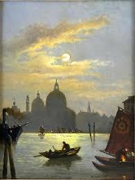 kreutzer oil painting moonlit night in venice 19 century