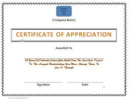 free templates for certificates of appreciation 30 free certificate of appreciation templates and letters