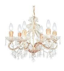paris flea market chandelier flea market 6 light mini chandelier in champagne clear crystal cm clear