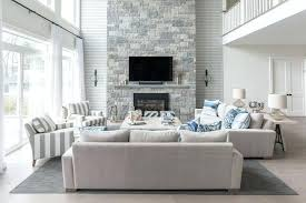 grey living room decor gray stone fireplace