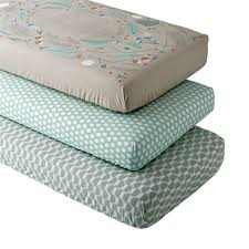 blue well nested woodland crib fitted sheet set  the land of nod