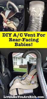 diy a c vent for rear facing babies how to keep your baby