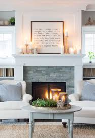 Cozy fireplaces ideas for home Stone Fireplace Simpleandcozywintermanteldecoratlilypad Santosangelesco Clean Cozy Neutral Winter Decorating Ideas The Happy Housie