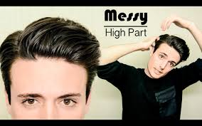 Messy Hairstyle For Guys Messy High Part Hairstyle Quick Easy Mens Hair Tutorial Youtube