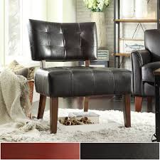 Charlotte Faux Leather Armless Accent Chair by iNSPIRE Q Classic - Free  Shipping Today - Overstock.com - 12280144