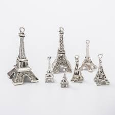100pcs tower charms antique silver diy jewelry making pendant for fashion bracelet necklace earrings sezn16263