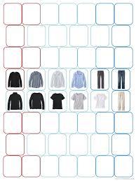 wardrobe template. a 52piece wardrobe template