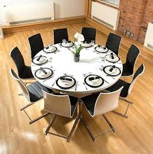 extra large round dining table 3 long seats 10