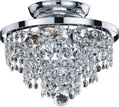 thorpe glam 3 light crystal shade close up semi flush mount