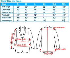 Blazer Sleeve Length Chart Suit Sizing And Measurements Suit Measurements Mens Suit
