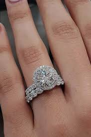 Vintage wedding jewelry 2018 trends inspirations Etsy Engagement Ring Trends 2019 Halo Wedding Set Diamond Pave Band Chouquette 48 Fantastic Engagement Rings 2019 Wedding Forward