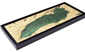Long Lake Ny Depth Chart Lake Ontario 3 D Nautical Wood Chart 13 5 X 31