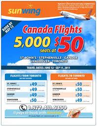 Sunwing Airplane Seating Chart Sunwing Vacations 5 000 Canada Flights At 50 Sunwing