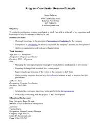 Program Coordinator Resume Template Program Coordinator Resume Free Resume Templates 1